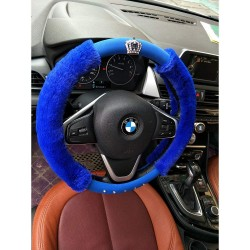 diamond crown soft plush steering wheel cover