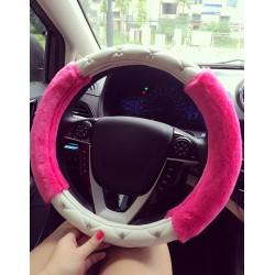 Rose Red Steering Wheel Cover for women