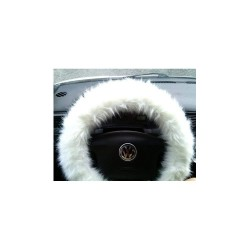 Fuzzy Steering Wheel Cover White